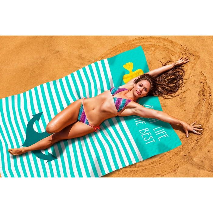 """Пляжное покрывало """"Лучший пляж"""" 145х200 см, микрофибра, полиэстер 100%"""