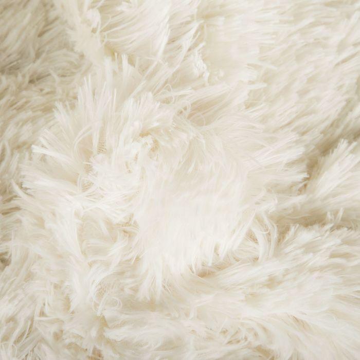 """Плед мех """"Шиншилла"""" двухсторонний, 240х220 см, белый"""