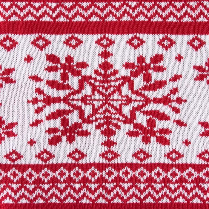 """Вязаный плед """"Этель"""" Снежный рисунок, размер 130х180 см, 100% полиэстер"""