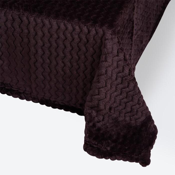 Плед Modern, размер 180 × 200 см, цве тёмно-фиолетовый