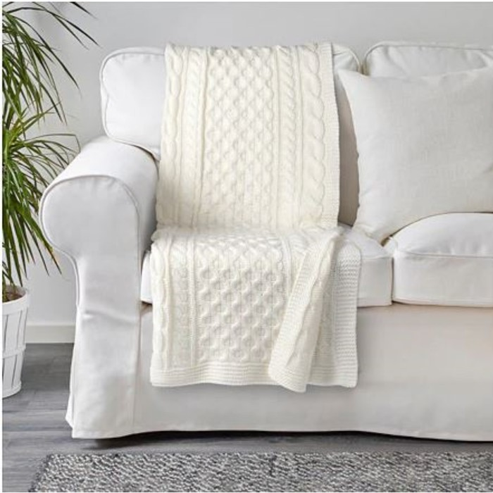 Плед ВИВИАННА, размер 120х180 см, цвет белый