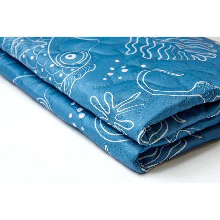 """Пляжное покрывало """"Подводные животные"""" 145х200 см, микрофибра, полиэстер 100%"""