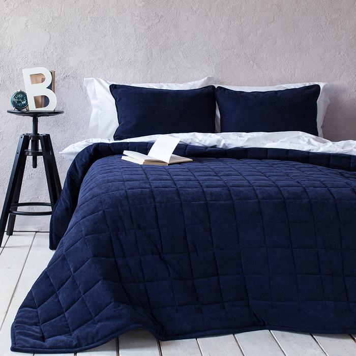 Комплект «Софт»: размер 250 × 270 см, наволочки 40 × 60 см - 2 шт, синий