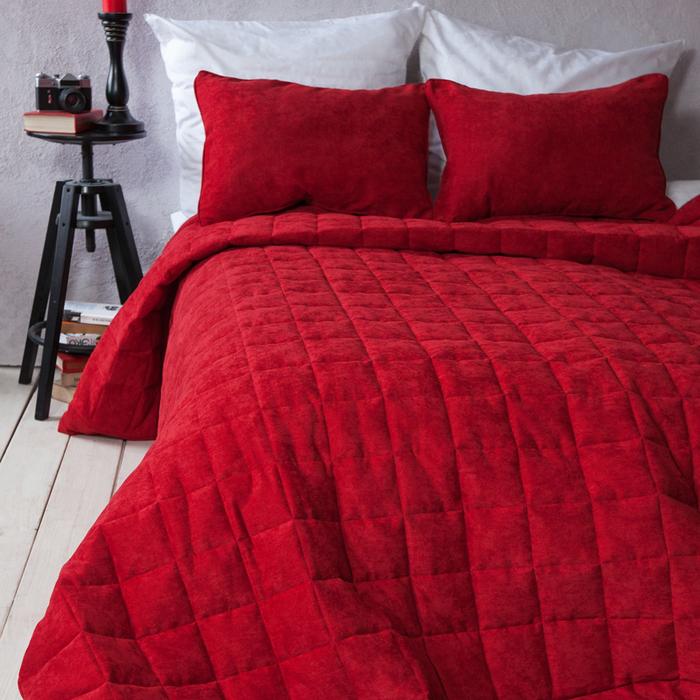 Комплект «Софт»: размер 250 × 270 см, наволочки 40 × 60 см - 2 шт, красный