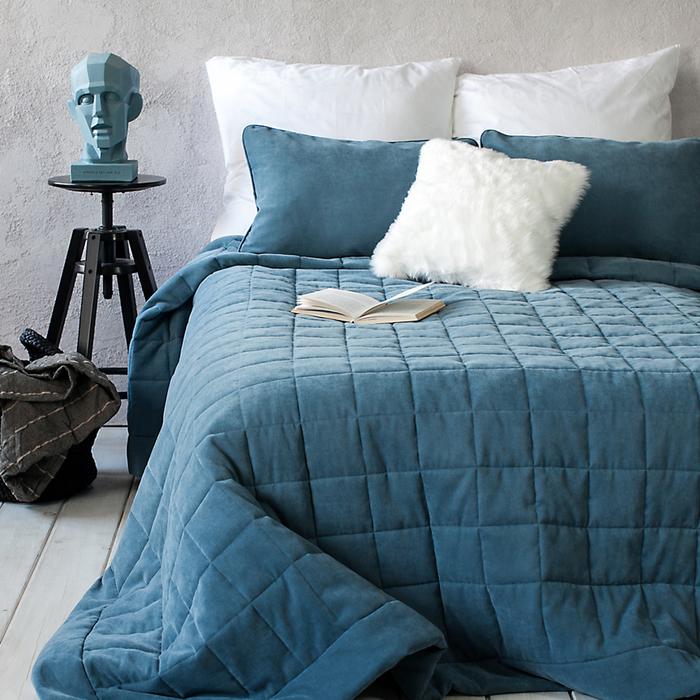 Комплект «Софт»: размер 250 × 270 см, наволочки 40 × 60 см - 2 шт, голубой