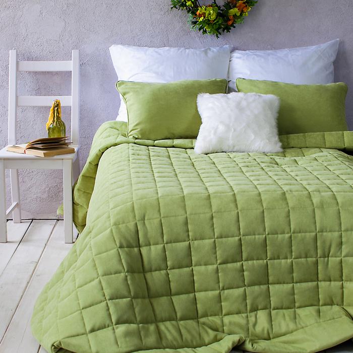 Комплект «Софт»: размер 250 × 270 см, наволочки 40 × 60 см - 2 шт, зелёный