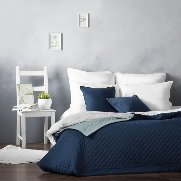 Комплект «Каспиан»: покрывало 230 × 250 см, наволочки 45 × 45 см - 2 шт, синий