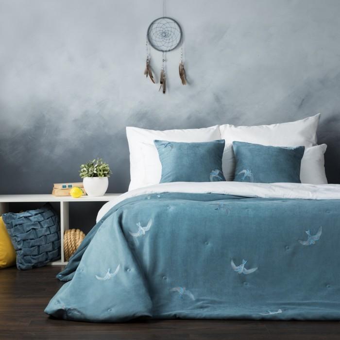 Комплект «Либерти»: покрывало 230 × 250 см, наволочки 45 × 45 см -2 шт, голубой