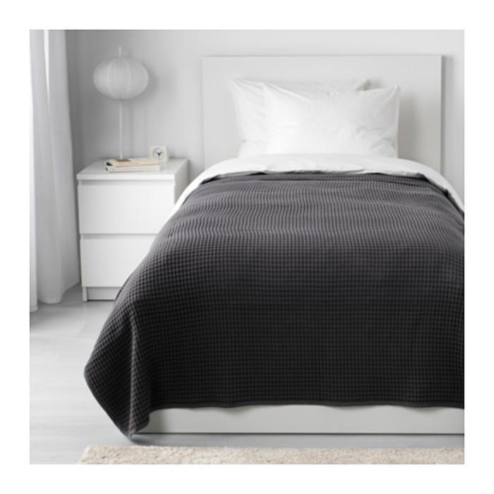 Покрывало ВОРЕЛЬД, размер 150х250 см, цвет тёмно-серый