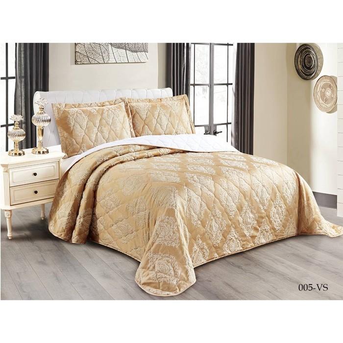 Комплект Versailles: покрывало 220 × 240 см, наволочки 50 × 70 см-2 шт, бежевый