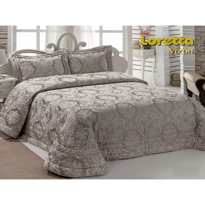 Комплект Loretta: покрывало 250 × 270 см, наволочки 50 × 70 - 2 шт, визон