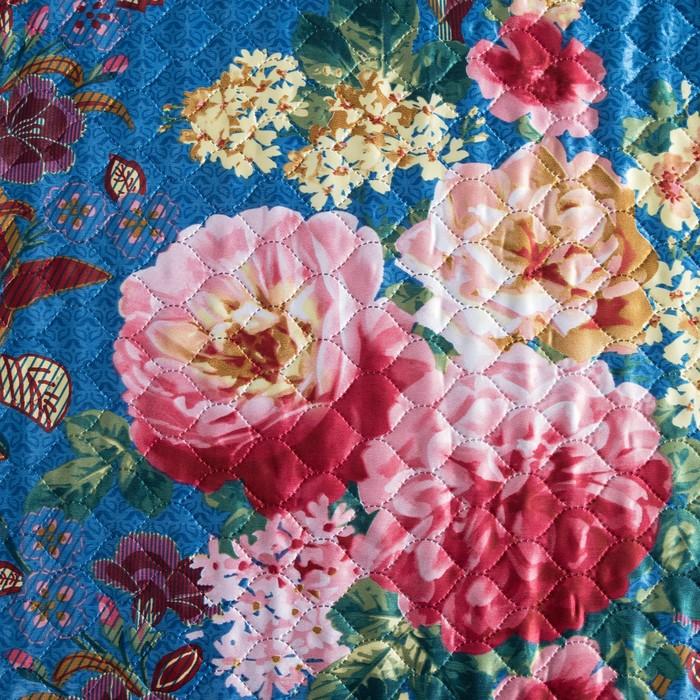 """Покрывало """"Этель"""" шёлк евро Цветочный сад 200х220 см, искусственный шёлк 100% п/э"""