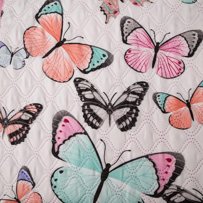 Покрывало Экономь и Я Ультрастеп «Бабочки» 180×210 ± 5 см, микрофайбер, 215 г/м², 100% п/э