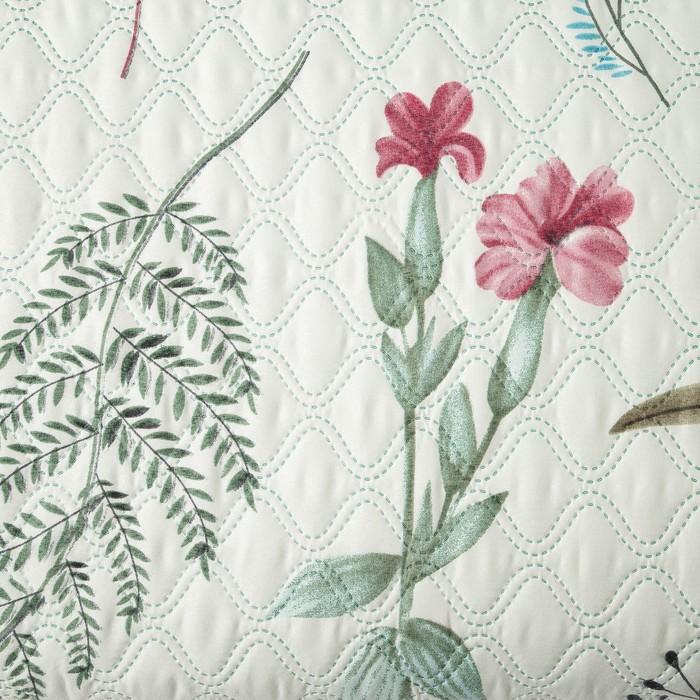 Покрывало Экономь и Я Ультрастеп «Ботаника» 180×210 ± 5 см, микрофайбер, 215 г/м², 100% п/э