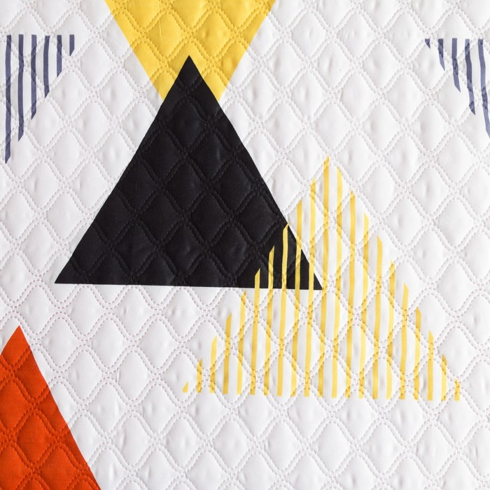 Покрывало Экономь и Я Ультрастеп «Треугольник» 200×210 ± 5 см, микрофайбер, 215 г/м², 100% п/э