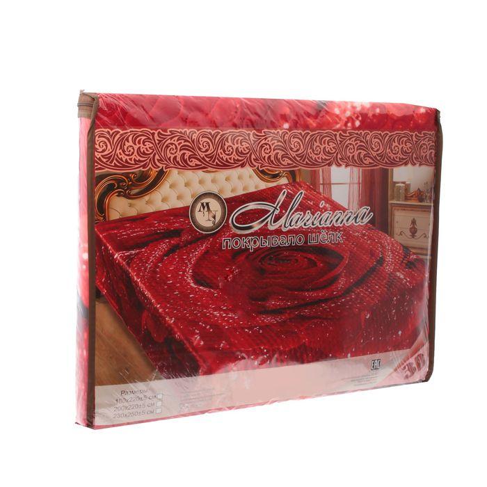 Покрывало 3D Marianna евро Розалинда, 200х220 см, искус.шелк, п/э100%