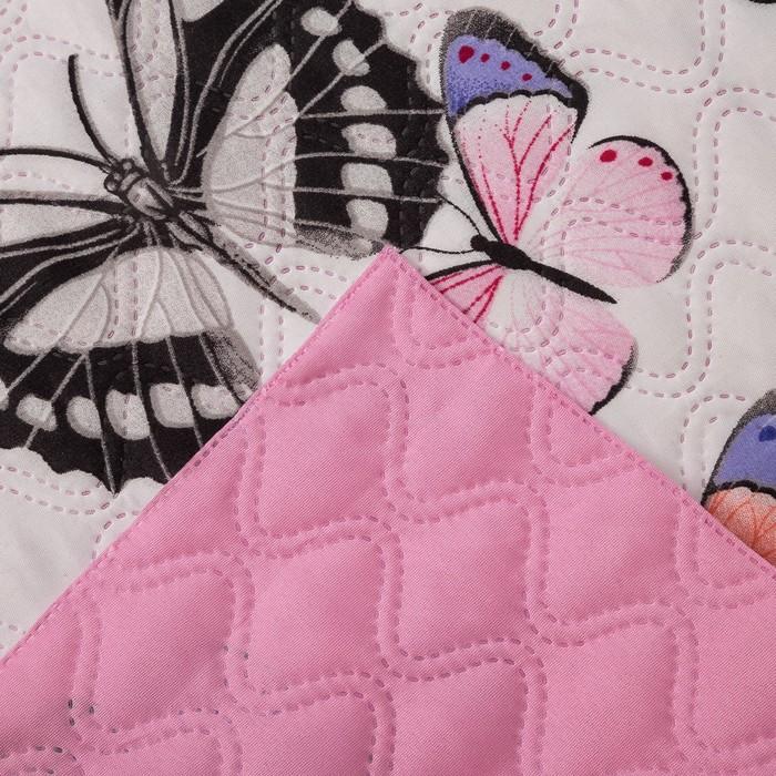 Покрывало Экономь и Я Ультрастеп «Бабочки» 240×210 ± 5 см, микрофайбер, 215 г/м², 100% п/э