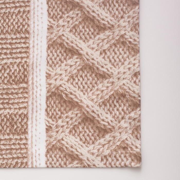 Покрывало «Этель» Жемчужная вязка, 200х215 см, 100% хлопок