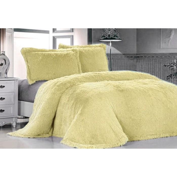 Покрывало «Лама», размер 160 × 220 см, цвет светло-жёлтый DCT072D-7 КОД2043