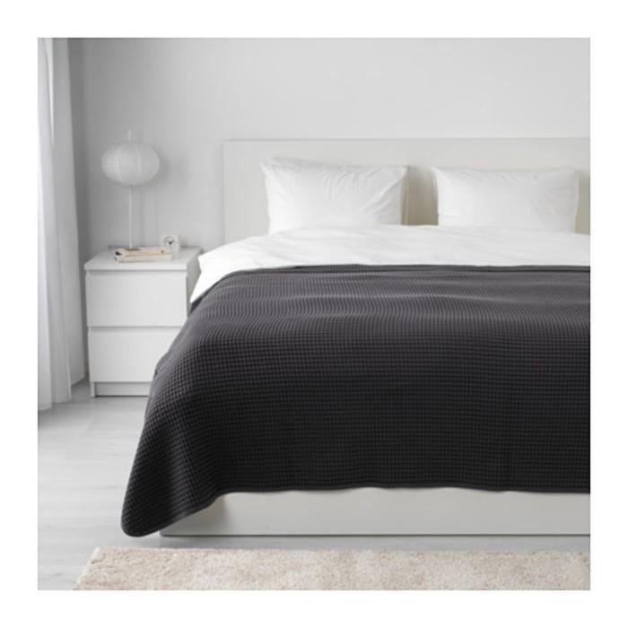 Покрывало ВОРЕЛЬД, размер 230х250 см, цвет тёмно-серый