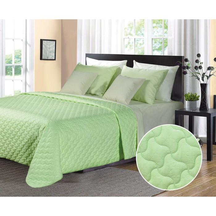 Покрывало Fabio, размер 220х240 см, цвет светло-зелёный