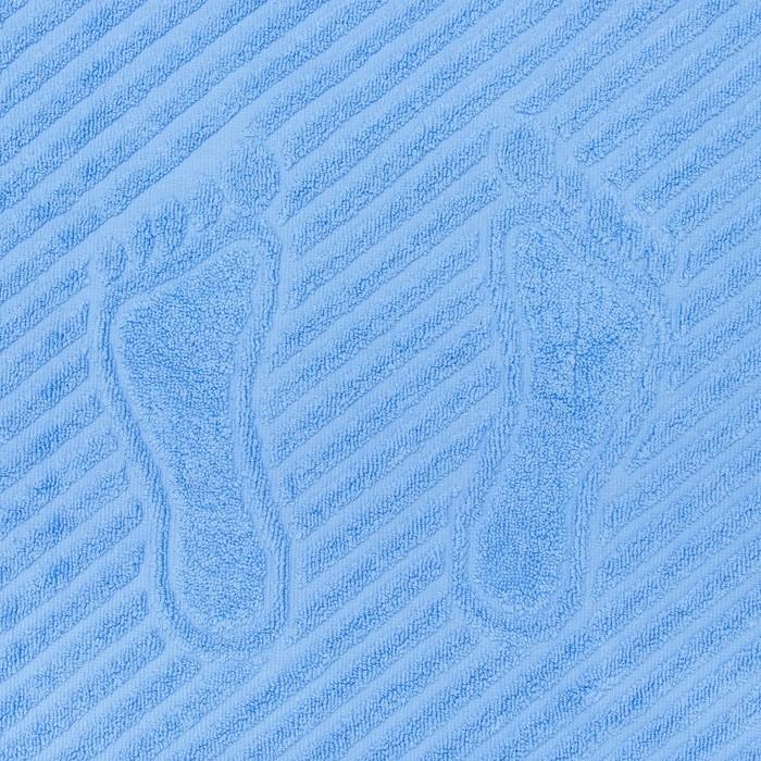 Полотенце для ног 50х70 см, василек, 700 гр/м2