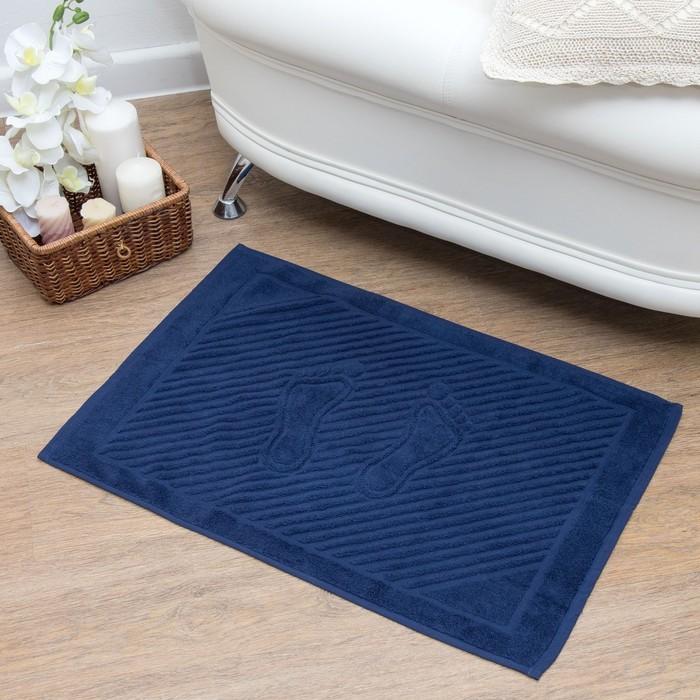 Полотенце для ног 50х70 см, темно-синий, 700 гр/м2