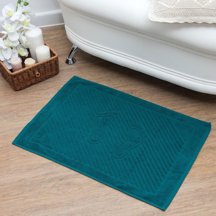 Полотенце для ног 50х70 см, классический зеленый, 700 гр/м2