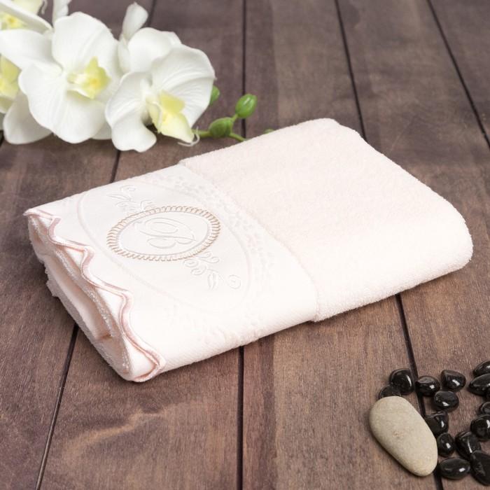 Полотенце махровое Belle 34x78 см, хлопок 100%, розовый, 380 г/м2