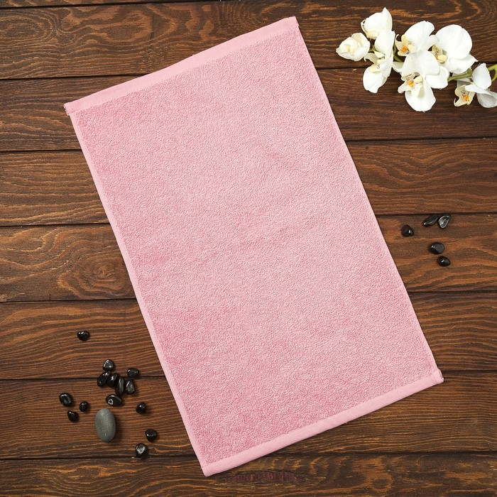 Полотенце махровое Spany Grace, 30х50 см, розово-серый, 360гр/м²