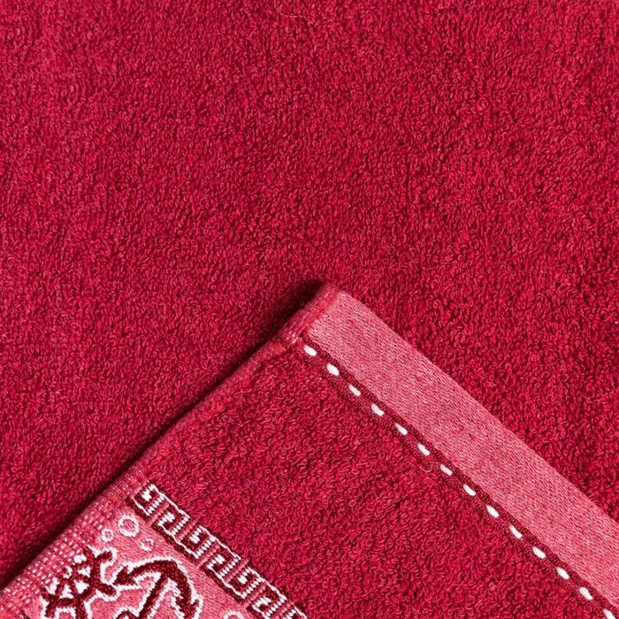 """Полотенце махровое  """"Якорь"""" 50х90 см, хлопок 100%, бордовый, 480 г/м2"""