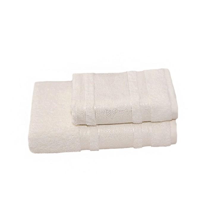 Полотенце махровое Бодринг 50х90 +/- 2 см, белый крем, хлопок 100%, 430 г/м2