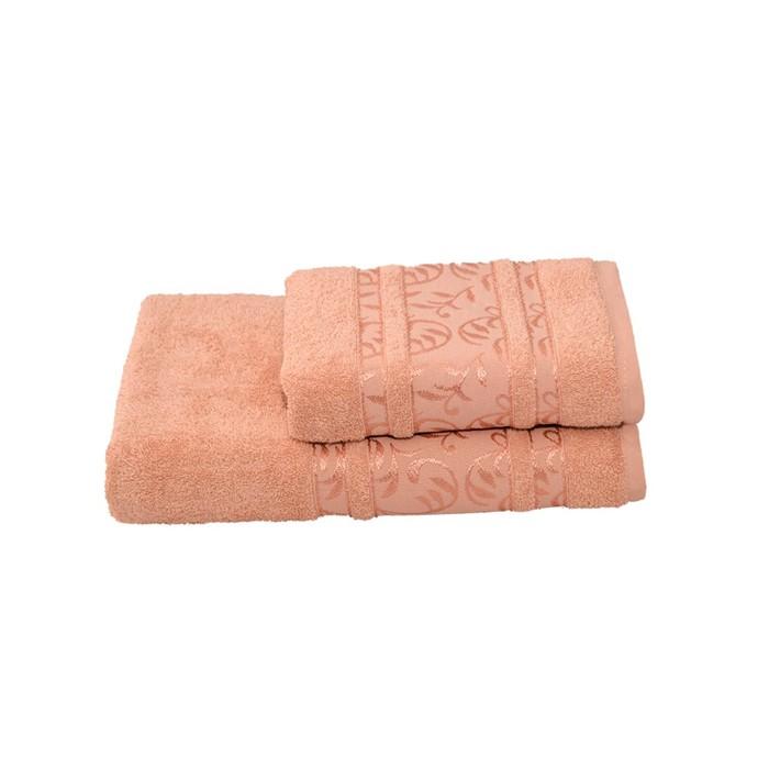 Полотенце махровое Флора 50х90 +/- 2 см, бежевый, хлопок 100%, 430г/м2
