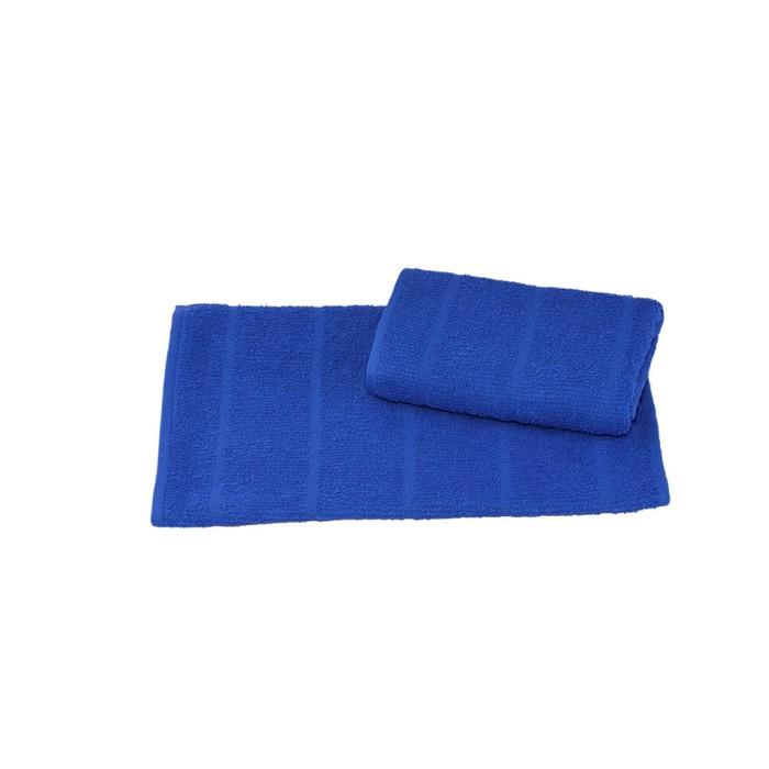 Полотенце махровое 60х130 см, хлопок, 340 г/м2, синий