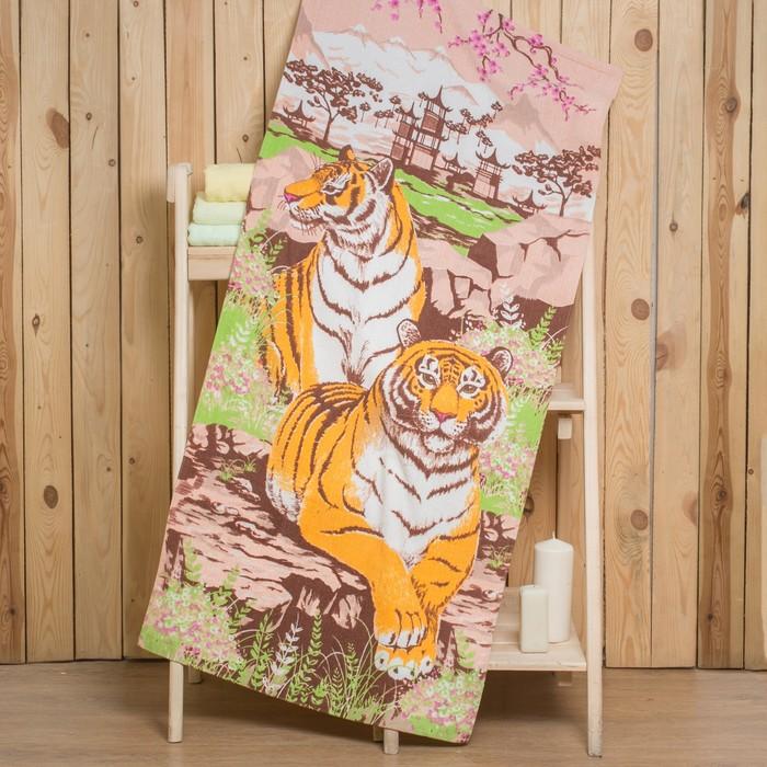 "Полотенце ""Collorista"" Тигры 70х140 см, 260 гр/м2, 100% хлопок"