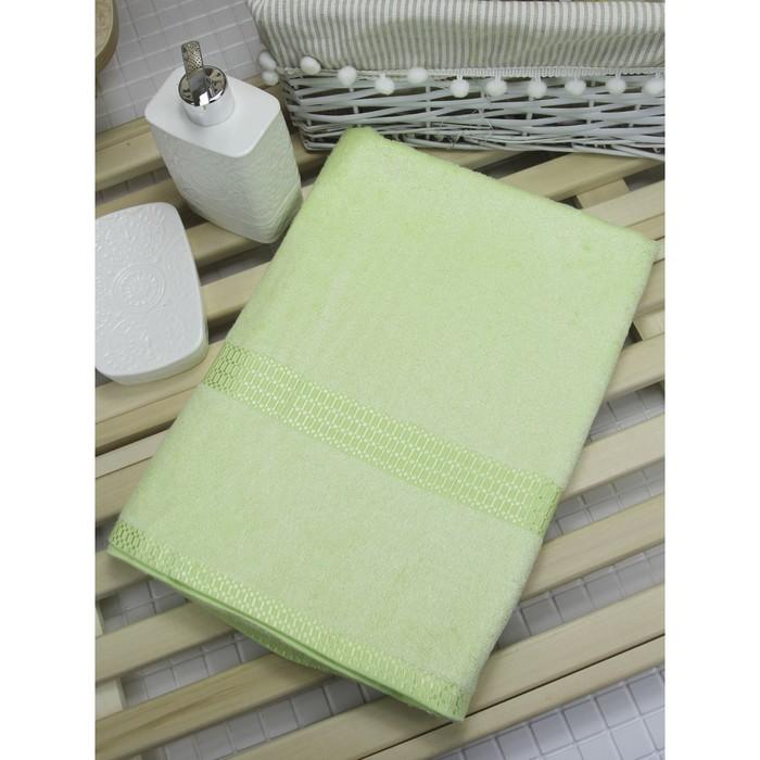 Полотенце из бамбука «Соло», 45х90 см, цвет салатовый