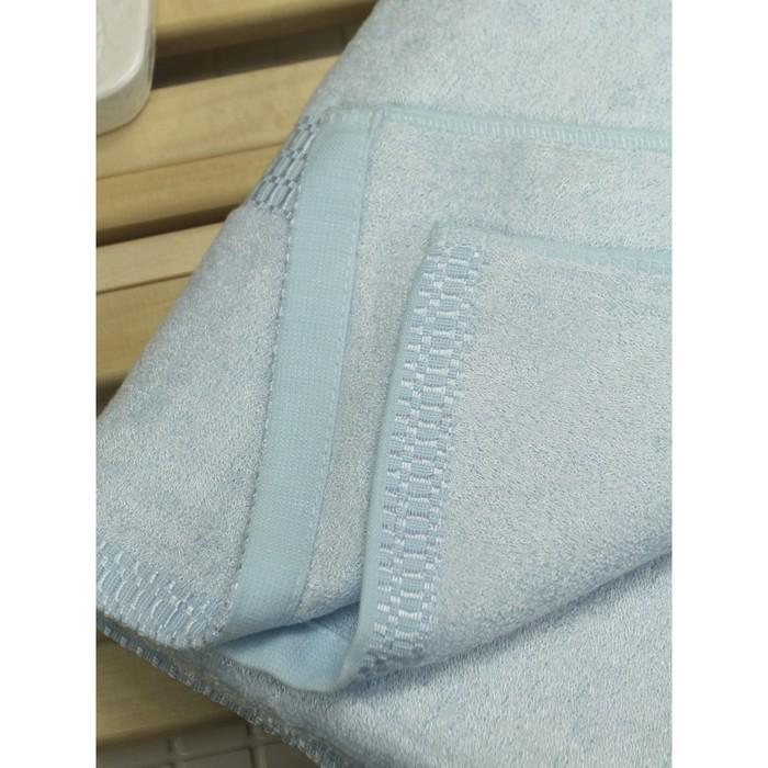 Полотенце из бамбука «Соло», 45х90 см, цвет голубой