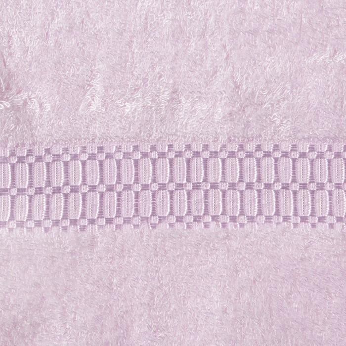 Полотенце из бамбука «Соло», 45х90 см, цвет розовый