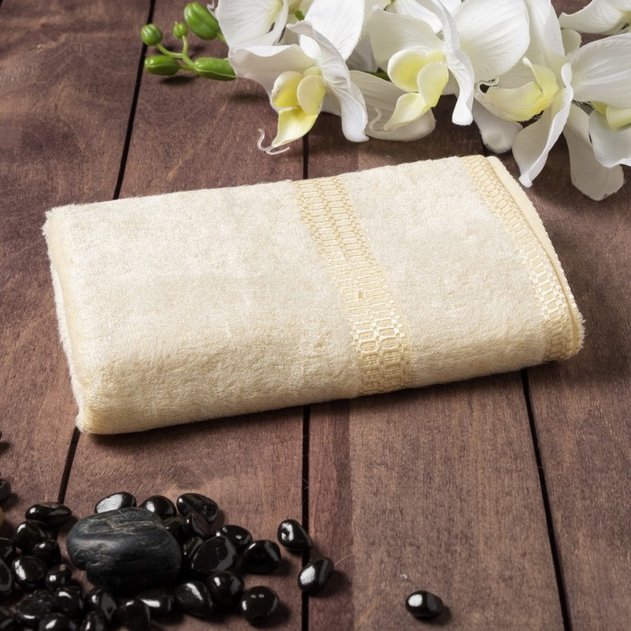 Полотенце из бамбука «Соло», 45х90 см, цвет персик