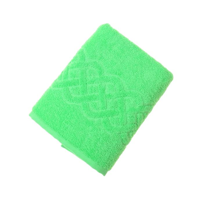 Полотенце махровое жаккард Plait, размер 50х90 см, 360 гр/м2, цвет зеленый