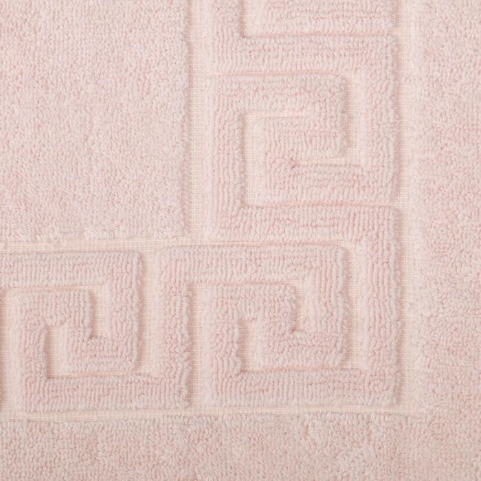 Полотенце для ног махровое 50х70 см ,670 гр/м,100% хлопок светло- персиковый