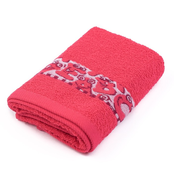 Полотенце махровое 70х120 см, цвет розовый, 340гм, хл100%