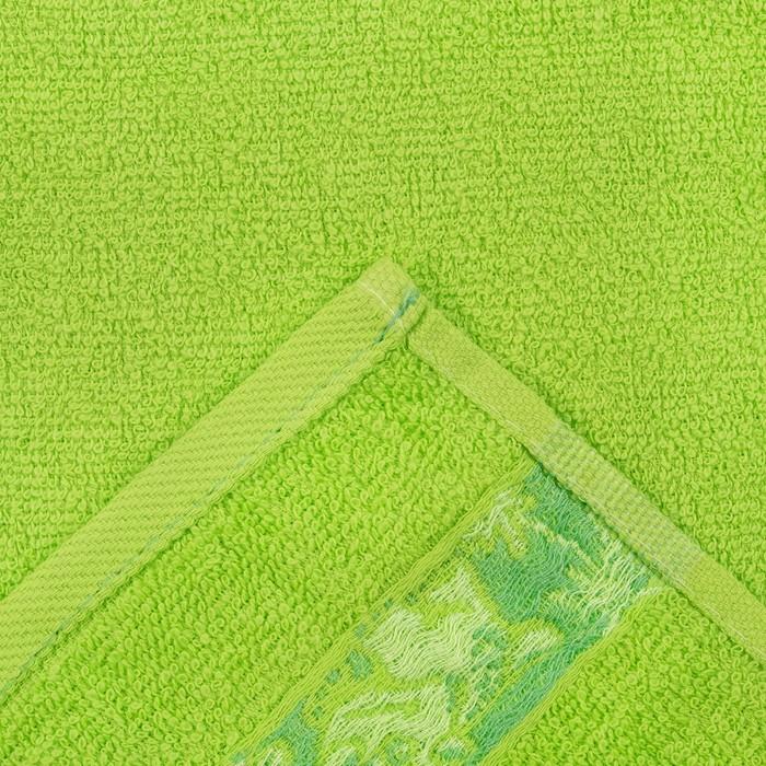 Полотенце махровое 70х120 см, цвет зеленый, 340гм, хл100%