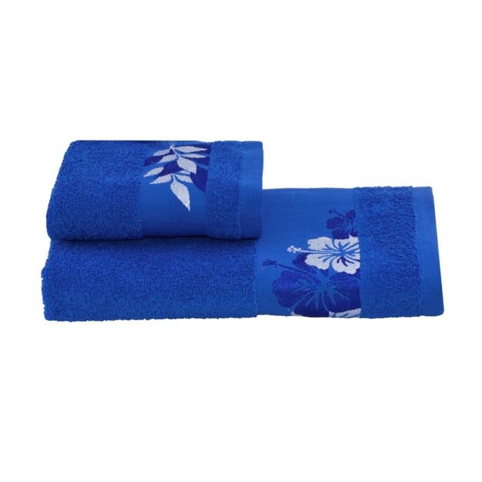 Полотенце махровое 30х60 +/- 2 см, синий, хлопок 100%, 360 г/м2