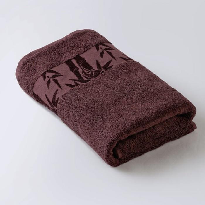 Полотенце «Бамбук», размер 41 × 70 см, махра, цвет каштановый