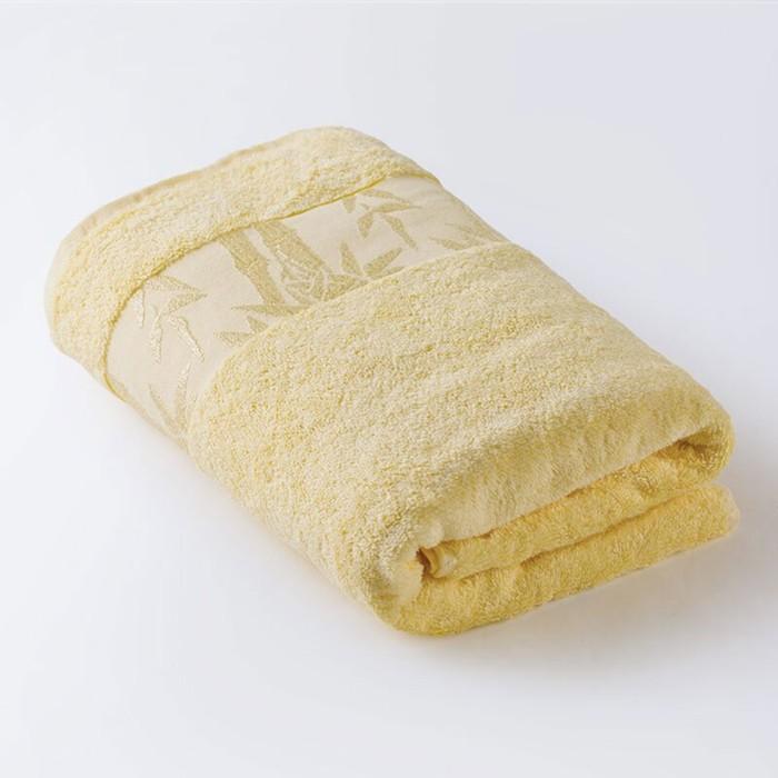 Полотенце «Бамбук», размер 41 × 70 см, махра, цвет лимонный