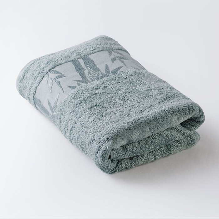 Полотенце «Бамбук», размер 41 × 70 см, махра, цвет морская волна