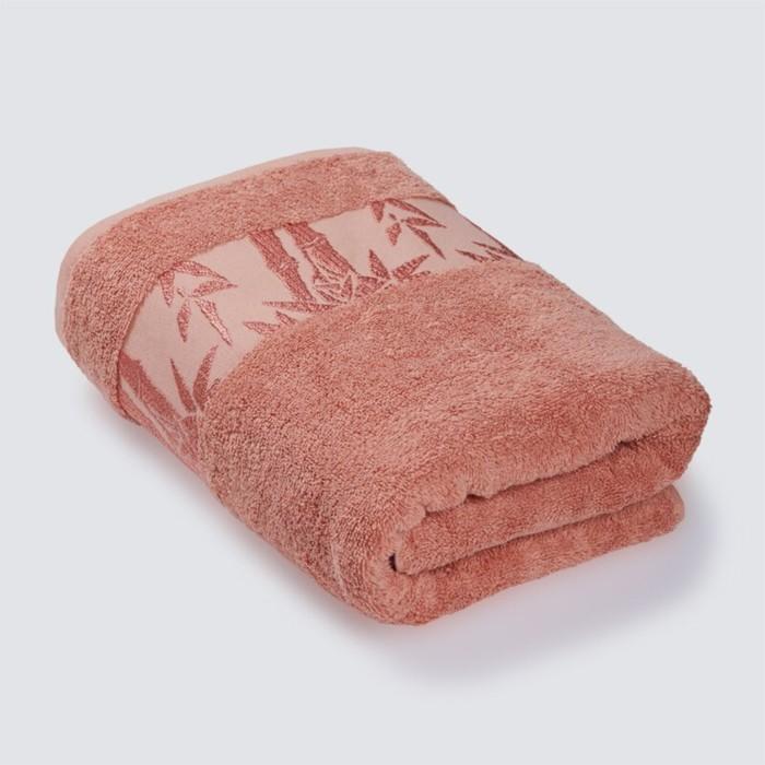 Полотенце «Бамбук», размер 41 × 70 см, махра, цвет персиковый