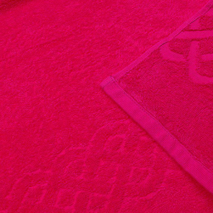 Полотенце махровое жаккард банное Plait, размер 70х130 см, 350 г/м2, цвет красный