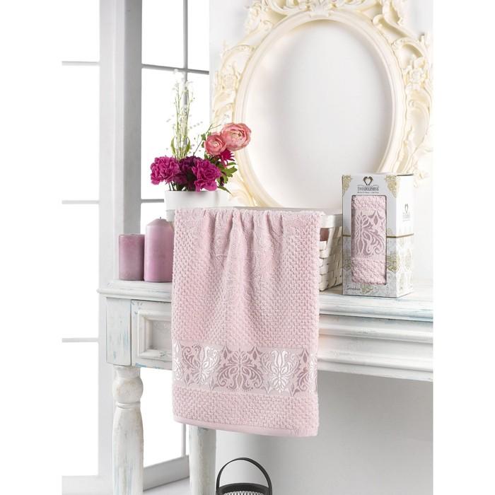 Полотенце махровое Sevakin, 50х90 см, цвет светло-розовый.